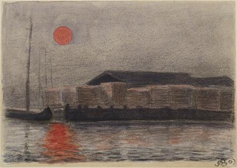 Oscar Bluemner (1867-1938), Barges in the Sunset, 1903