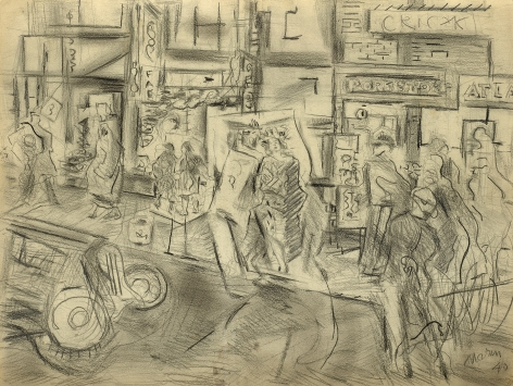 street with figures