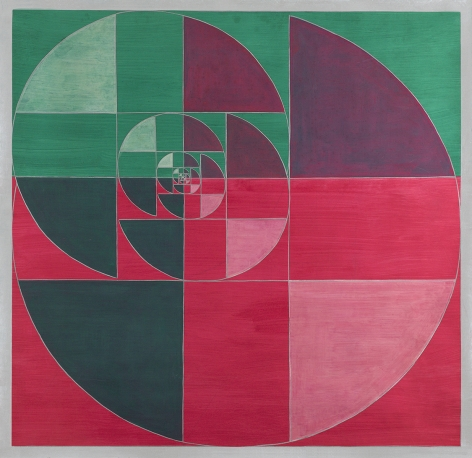 Benny Collin (1896-1980), Untitled (Abstraction in Red and Green)