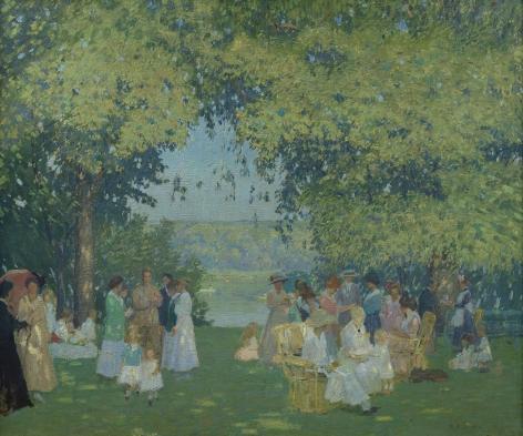 Rae Sloan Bredin (1880-1933), Lawn Fete, circa 1920