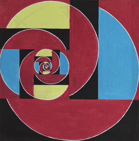Benny Collin (1896-1980), Untitled (Abstraction in Red, Black, Blue, and Yellow)
