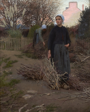 Edward Emerson Simmons (1852-1934), The End of the Yard,1883