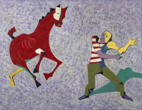 O. Louis Guglielmi (1906-1956), Study for 'Droll Gambit at Coney,' circa 1949
