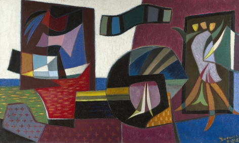 Werner Drewes (1899-1985), Strange Islands-Floating Continents, 1948