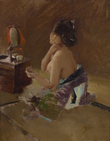 Robert Frederick Blum (1857-1903), Lady at her Toilet, circa 1890-1893