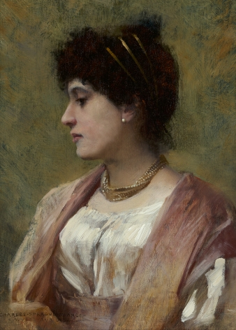 Charles Sprague Pearce (1851-1914), A Lady of the Directoire