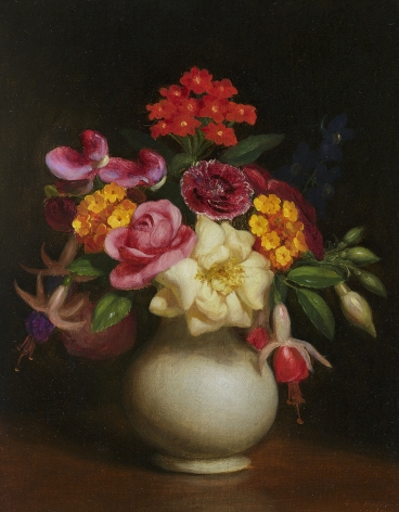 George Henry Hall (1825-1913), Floral Still Life, 1860