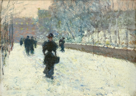 figure in the snow