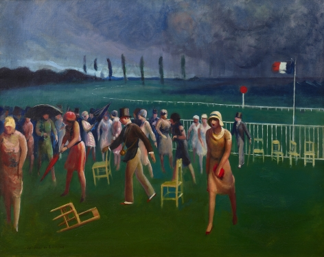 Guy Pène du Bois (1884-1958), Approaching Storm, Racetrack, 1929