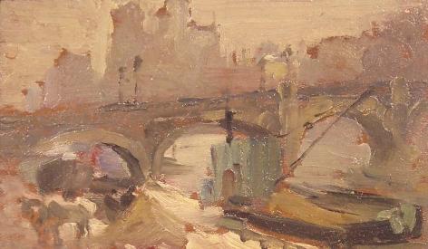 Alice Schille (1869-1955), Along the Seine, circa 1905