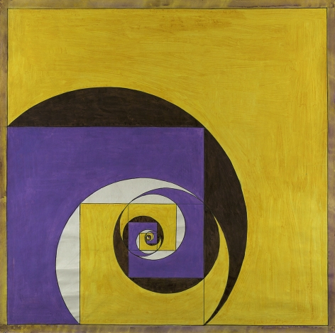 Benny Collin (1896-1980), Untitled (Abstraction in Yellow and Purple)