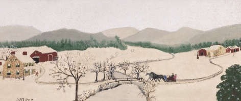 Anna Mary Robertson (Grandma) Moses (1860-1961), Over the River to Grandma's House on Thanksgiving, 1942