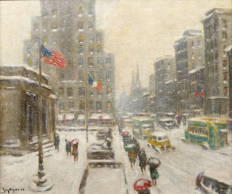 cityscape in the snow