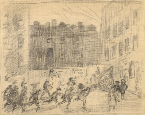cityscape with figures