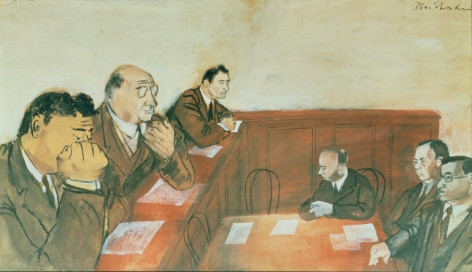 Ben Shahn (1898-1969), Senate Hearing, Lafollette and Thomas, 1937