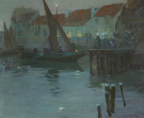 Richard Edward Miller (1875-1943), The Harbor at Night, Concarneau, circa 1901-1903