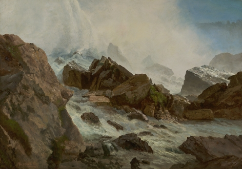 Albert Bierstadt (1830-1902), View of Niagara Falls from Prospect Point, circa 1869
