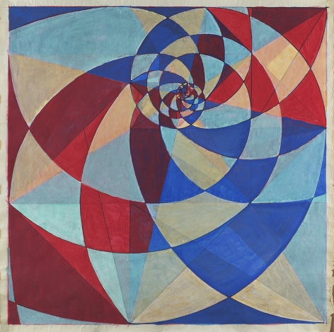 Benny Collin (1896-1980), Untitled (Abstraction in Blue, Red, and White)