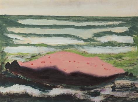Milton Avery (1885-1965), Pink Island, White Waves, 1959
