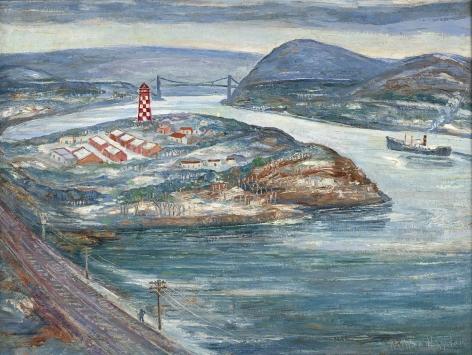 Palmer Hayden (1890-1973), Iona Island, circa 1934