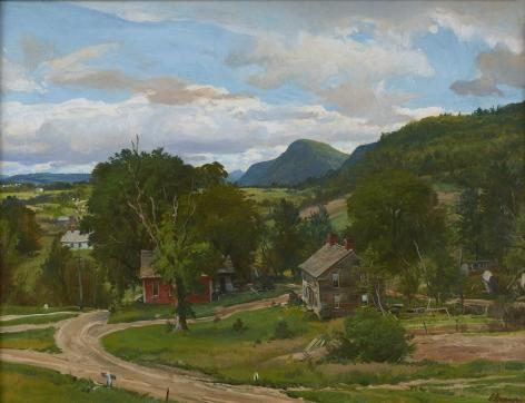Ogden Minton Pleissner (1905-1983), Crossroads at Pawlet, Vermont
