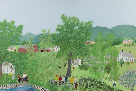 Anna Mary Robertson (Grandma) Moses (1860-1961)    , The Gate, 1954