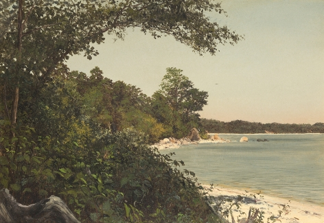 Lockwood de Forest (1850-1932), Tranquil Shore, 1874