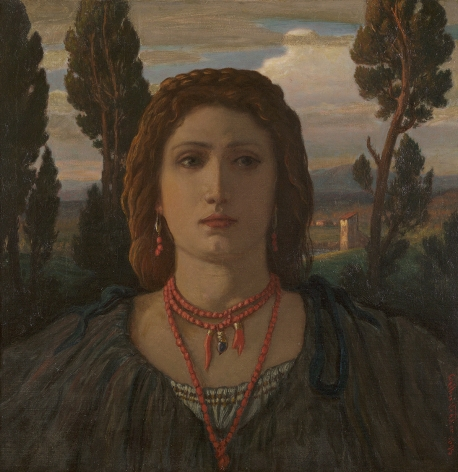 Elihu Vedder (1836-1923), The Coral Necklace, Italy, 1898