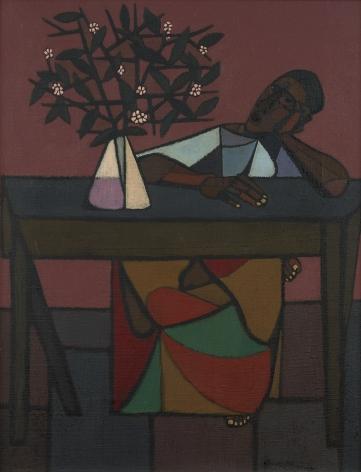 Robert Gwathmey (1903-1988), Woman at Table, circa 1949