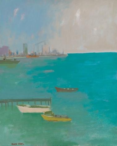 Herman Maril (1908-1986), The Harbor, Baltimore, 1980