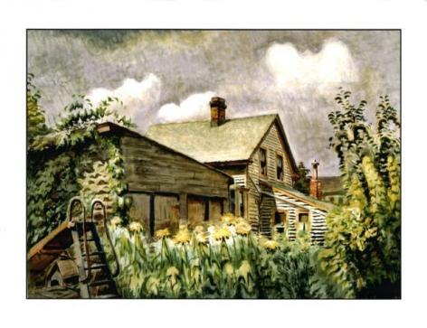 Charles Ephraim Burchfield (1893-1967) , August Morn, 1933-49