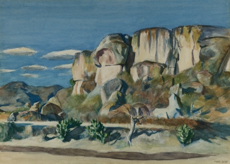 Edward Hopper (1882-1967), Cliffs Near Mitla, Oaxaca, 1953