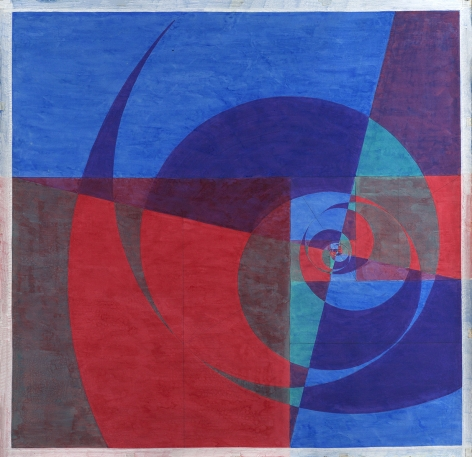 Benny Collin (1896-1980), Untitled (Abstraction in Blue and Red)