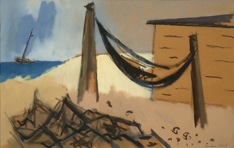 Herman Maril (1908-1986), Fisherman's Shack, 1973
