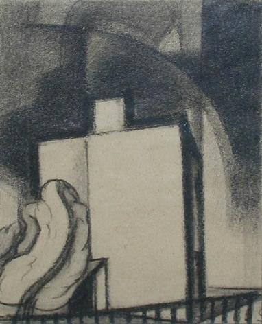 """Oscar Bluemner (1867-1938), Study for """"Blue Above"""", 1933"""