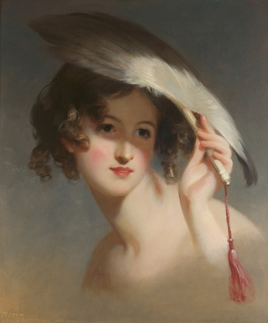 Thomas Sully (1783-1872), Girl with a Fan (Blanche Sully), 1837