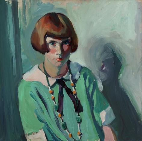 Jane Peterson (1876-1965), The Green Dress, circa 1920s