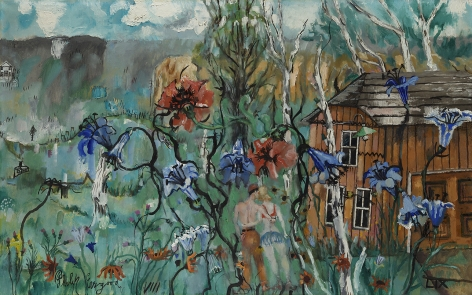 Philip Evergood (1901-1973), Berkshire Paradise, 1959