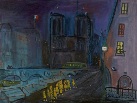 Ludwig Bemelmans (1898-1962), Notre Dame at Night