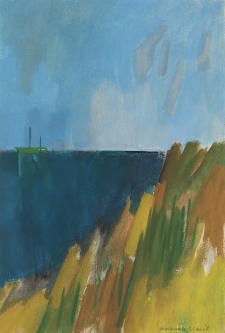 Herman Maril (1908-1986), Dark Sea with Green Boat, 1979