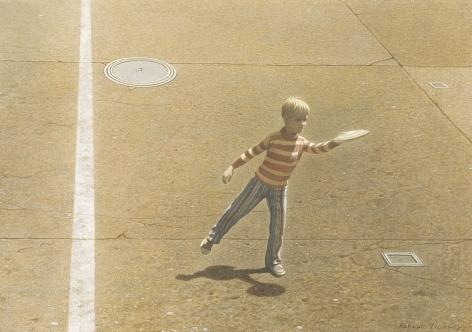 Robert Vickrey (1926-2011) , Frisbee Thrower, circa 1965-70