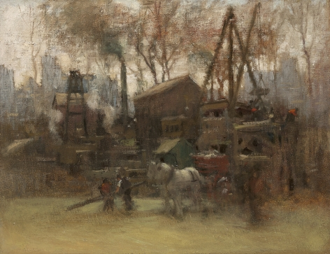 Paul Cornoyer (1864-1923), Construction Site, New York, circa 1910