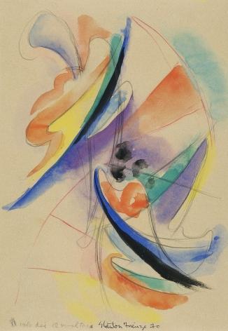 Stanton MacDonald-Wright (1890-1973), Firenze, 1970