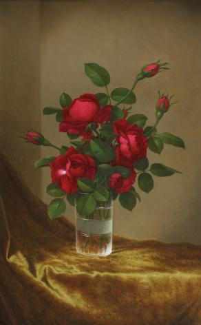 Martin Johnson Heade (1819-1904), Cluster of Roses in a Glass, circa 1885-1895