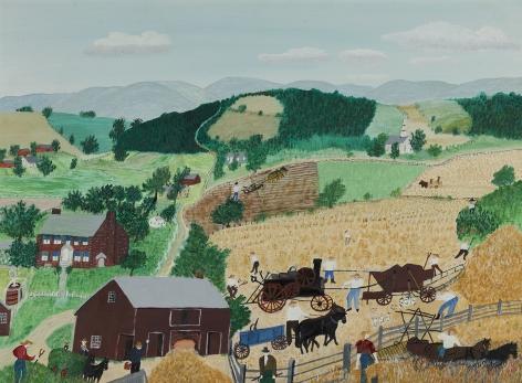 "Anna Mary Robertson ""Grandma"" Moses (1860-1961), The Thrashers, 1954"