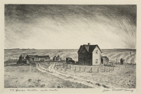 John Steuart Curry (1897-1946) , Kansas Wheat Ranch, 1929