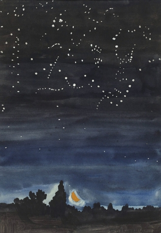 Charles Ephraim Burchfield (1893-1967), Moonset, 1916