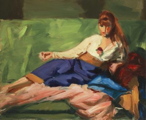 lounging woman