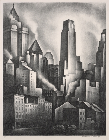 Howard Norton Cook (1901-1980), Financial District, 1931