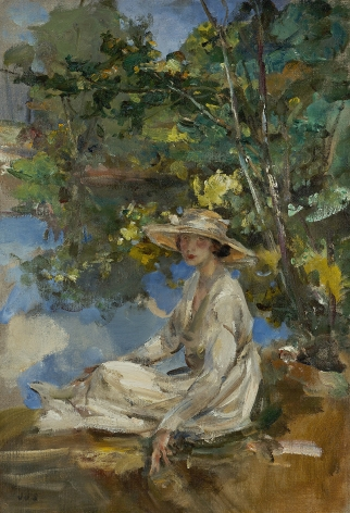 James Jebusa Shannon (1862-1923), Woman in White, circa 1921